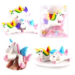Wholesale Horses Flies - Squishy Unicorn Toys Stress Reliever Toys Gift Flying Unicorn Pony Horse Slow Rising Kawaii Pendant Stress Reliever Toys Gift