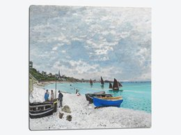 Wholesale Vincent Van Gogh Abstract - Impressionism art masterpiece reproduction copies canvas prints mural paintings Fishing Boats on the Beach at Saints-Maries Vincent van Gogh