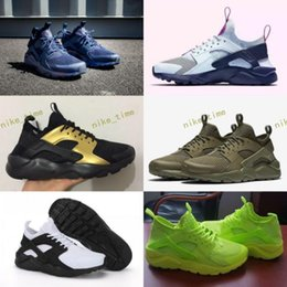 Wholesale Golf Iv - 2017 Air Huarache 4 IV Ultra Reflect Running Shoes For Men Women Leather Mens Huaraches Green Black Huraches Sports Trainers Sneakers 36-45