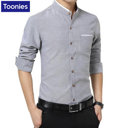 Wholesale Men Office Shirts - Wholesale- New Brand Clothing Mens Dress Shirts SIngle Breasted Chemise Homme Long Sleeve Slim Fit Shirt Men Casual Work Office Shirt Male