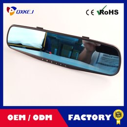 Wholesale Cycle Lcd - Dual-lens Car DVR Dashcam, Full HD 1080P with 4.3 inch LCD, Rearview Mirror Design With 16G TF Card