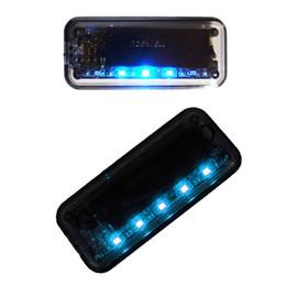 Argentina 2pcs Car Solar Cargador de advertencia de advertencia de robo de luz 5 LED Auto Sensor de advertencia de luz de seguridad de coche Lámpara de alarma antirrobo Suministro