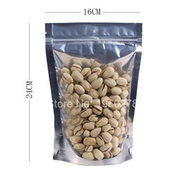 Wholesale Coffee Bean Packaging Bags - 6x8.5in (15x22cm) Aluminum foil zip lock translucent Resealable stand up Packaging Bag Pouch for coffee bean snack Storage