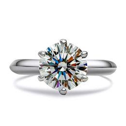 Wholesale White Topaz Ring Silver 925 - Brand 1CT Women's 925 Silver White Topaz Diamonique Classic forever Wedding Rings Size 4,5,6,7,8,9,10,11