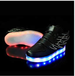 led lighted shoes for kids with best reviews - 2017 Fashion LED luminous for kids children casual shoes glowing usb charging boys & girls sneaker with 7 colors light up new