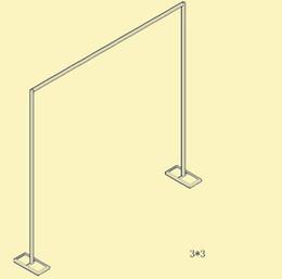Soportes de cortinas online-Soporte de fondo retráctil de acero inoxidable del fondo de la boda la cortina del marco de cortina envío gratis WQ09