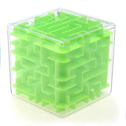 Wholesale Maze Cube Toy - 1Pc Maze Magic Cube Puzzle 3D Mini Speed Cube Labyrinth Rolling Ball Toys Puzzle Game Brain Balance Learning Toys For Children