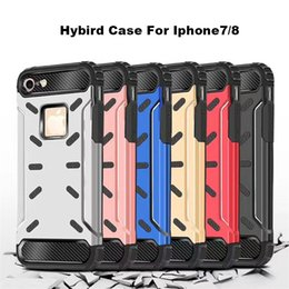 Wholesale Apple Mark - Metal Hybird Armor Mobile Phone Case For Iphonex 8&8plus Case Hard Back Cover Silicon Quickstand For Cellpone Back Cover Pc Tpu Mark Case