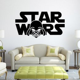 Wholesale Black Star Decal - 3D Star Wars Yoda Clone Soldier Carved Figures Wall Decal PVC Home Decor Art Wall Sticker Christmas Decoration Wallpaper free shipping