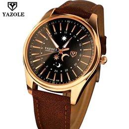 Wholesale Gentleman Watches - 2017 Fashion brown leather strap waterproof gentleman quartz wristwatch moon world map Luxury Brand men watch master Male Clock