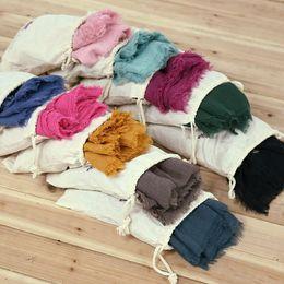 Wholesale Lace Chiffon Scarf Wholesale - 23 colors Beach Sarongs Scarves Windproof Cotton scarf Beach Blanket Casual Fashion Round Bikini Cover Ups Beachwear Turban With storage bag