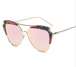 Wholesale Framing America - fashion women sunglasses Europe and America Large frame Colorful sunglasses Sandy beach Drive brand designer sunglasses