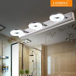 Wholesale Bathroom Led Vanity Lights - Modern LED Mirror Front Light Lamp Wall Sconce Bathroom Living Room Ac90-260v stainless steel Acrylic vanity lighting fixtures