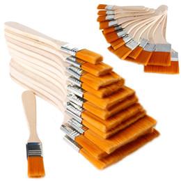 Принадлежности для кисти онлайн-12шт деревянные масляной живописи кисти художника акриловые Акварель Panit искусства поставок набор топ живопись инструменты