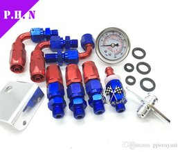 Wholesale Fuel Oil Cooler - Free shipping GS-Aerom*tive Adjustable Fuel Pressure Regulator Kit with 0-160psi oil Gauge  Oil Cooler Kit GS-B-028stocked ready to ship