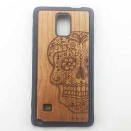 Wholesale Cover Protection For Galaxy S4 - Coolest TPU Wood Grain Cover Skin Protection Case For Samsung Galaxy Note3 Note4 Note5 S4 S5 S6 S6edge plus Wolf Carving for Gifts