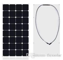 Wholesale Solar Panels For Rv - solar panel 100w 12V High efficiency sunpower flexbile solar photovoltaic cell for yacht, caravan, boat,RV,Golf cart,motorhome use