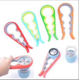Wholesale 4 in Handy Anti slip Can opener Lid Screw Bottle Jar Opener Kitchen Easy Twist Tool Lid Can Opener KKA1305