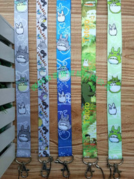 Wholesale Totoro Cell Phone Wholesale - Wholesale New 10Pcs Mixed Anime My Neighbor TOTORO Mix Pattern Lanyards Cell Phone PDA Key ID Strap Charms