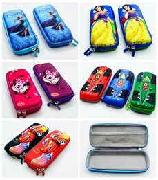 Wholesale Micky Car - Wholesale-boy girl cartoon micky car sofia princess frozenn pencil case bag School Pouches cute children student prize pen sackstationery