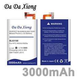 Wholesale Droid Dna Phone - Da Da Xiong 3000mAh BL83100 Phone Battery for HTC x920e x920d butterfly droid dna htl21 Deluxe DLX One X5