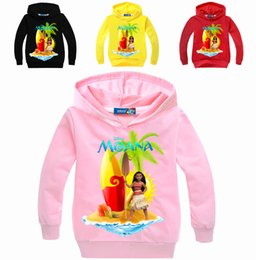 Wholesale Sweater Hoodie Children - New Wholesale Kids Moana Sweaters spring and autumn Cotton Hoodies for children boys and girls Cartoon characters sweaters