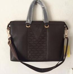 Wholesale Mens Computer Briefcase - High quality new arrival brand fashion designer laptop bag mens shoulder bag notebook business briefcase computer bag