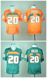 Wholesale Miami Embroidery - Miami Hurricanes Ed Reed #20 Mens College SPORT Jerseys Embroidery Athletic Outdoor Apparel Rugby jersey Size S-3XL