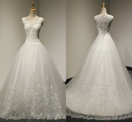 Wholesale Korean Bride White Dress - 2017 Free Shipping High Quality Fashion Sexy Flowers Net Yarn Dress Skirt Korean Version Of The Bride Wedding Word Shoulder Wedding Dresses