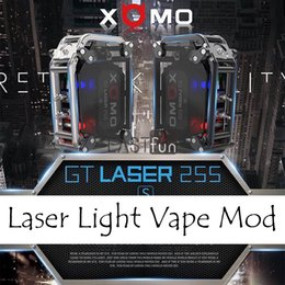 Wholesale Light Mod Kit - 100% Authentic XOMO GT LASER 255 BOX MOD Built In 3500mAh Battery XOMO Box Mod Mechanical Mod Kit With LASER Flashing Light VS Smoant Rabox
