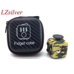 Wholesale Toy Big Zippers - Hot ! SELLWORLDER High Quality 5 Set Fidget Cube Original with Zipper Case Puzzles Magic Toys for Birthday Gift with Clickable Ball