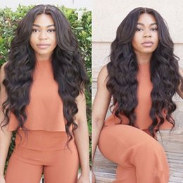 Wholesale Lacefront Human Hair Glueless - Human Hair Lace Front Wigs With Baby Hair Bleached Knots Lacefront Wigs Loose Wave Virgin Malaysian Hair Glueless Full Lace Wig Black Women
