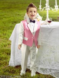 Wholesale Tuxedo Bridesmaids - Kid Suits Boys Wedding Flower Children Tuxedos Formal Occasion Bridesmaid Suits