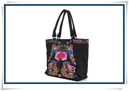 Wholesale Traditional Handbags - 2016 tote bag designer handbag Yunnan embroidery bag ladies casual handbag canvas bag Chinese traditional handbag