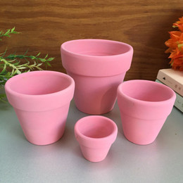 Wholesale Powder Ceramic - D5XH4CM Colorful Terracotta Pot Clay Ceramic Pottery Planter Flower Pots Holder Home Garden Decor Wholesale ZA4119
