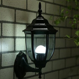 Wholesale European Led Outdoor Wall Lamp - Outdoor lamp European wall lamp modern simple outdoor waterproof courtyard lamp retro landscape lighting led lighting aurora LLFA