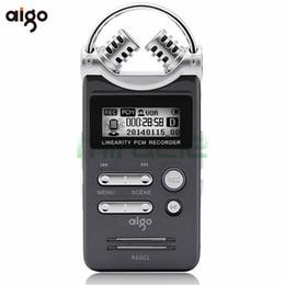 Wholesale Digital Hd 3d - Wholesale- Aigo R6601 8GB Digital recorder professional HD MP3 mini noise reduction ADPCM WAV lithium battery 3D double mic Dictaphone