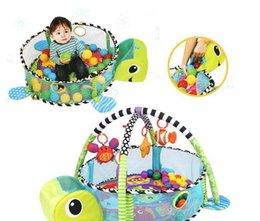 Wholesale Green Baby Play Mat - Baby Play Mat Cartoon Toys Infant Floor Blanket Educational Gym Mats Kids Rug Activity Climbing Carpet (Color: Green)