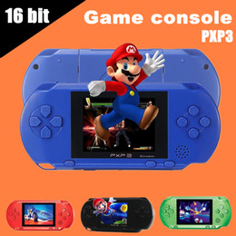 Wholesale Videos Free - Hot sale Game Player PXP3(16Bit) 2.5 Inch LCD Screen Handheld Video Game Player Console 5 Colors Mini Portable TV Game Free DHL 10pcs
