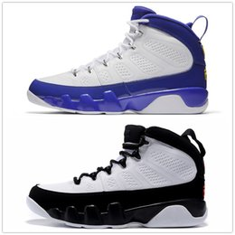 Wholesale Top High Cut Basketball Shoes - 9s Classic 9 OG Space jam Tour Yellow black white blue yellow High Top basketball shoes for men women