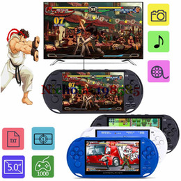 Wholesale Game Video Cameras - GBA NES Games Handheld Game Players 5.0 inch Screen Portable Game Console MP3 Player X9 Portable Game Player With Camera TV Output TF Video