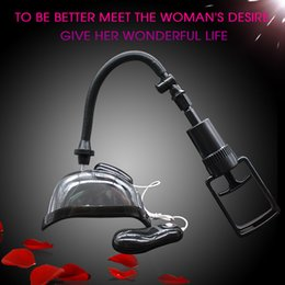 Wholesale Vaginal Pump For Women - Sex Product Black Pussy Pump Female Vaginal Sucker Pump Pussy Cup Sex Toys for Woman Masturbation Vibrator Sex Product for Women Tools