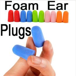 Wholesale Ear Plugs For Sleeping - Health Soft Foam Ear Plugs Travel Sleep Noise Prevention Earplugs For Travel Sleeping Individually Wrapped Box pack B87Q
