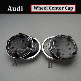 Wholesale cars a3 - Good quality Auto Wheel Center Hub Cap 69MM 2.72INCH FOR AUDI gray black Car Emblem auto accessories car style for A4 A5 A6 A7 A8 R8 S RS