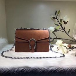 Wholesale Brown Suede Clutch - 2017 hot Famous Classical designer handbags high quality women shoulder handbag purse bolsas feminina clutch brand tote bags 28CM