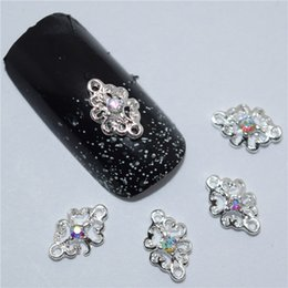 rhinestone nail art designs Promo Codes - Wholesale- 10pcs 3d nail jewelry decoration nails art glitter rhinestone for manicure Color gem design nail accessories tools #171