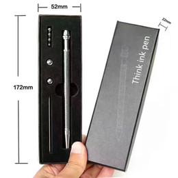 Wholesale Animal Ink Pens - Fidget Think ink pen decompression toy thinks pen pencil hand fidget novelty toys thinking pens Fidget Magnetic metal stress pen LC567