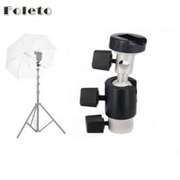 Wholesale Wholesale Photographic Equipment - Foleto Flash Shoe Umbrella Holder Light Stand Swivel Metal Bracket D Mount Support for flash Speedlite Photographic equipment