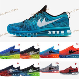 Wholesale Mens Leather Walking Shoes - Cheap 2014 Running Shoes Men Fly Line 100% Original Mens Walking Shoes Air New Sports Tennis Jogging Shoes Free Shipping Size 40-46