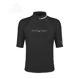 Wholesale Men S Clothing Short Surf - Short Surf Clothing Stylish Male Swimsuit Diving Suits Light Breathable Shirt Rashguard Men Short Sleeves Swimwear
